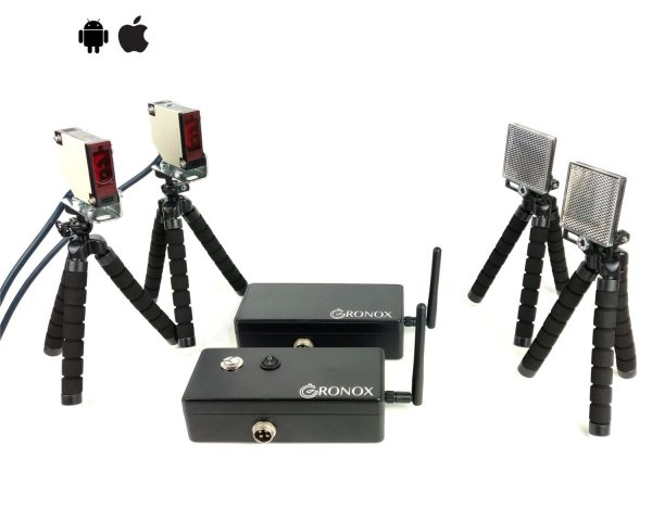 Cronox wireless timing gates for racing in sports